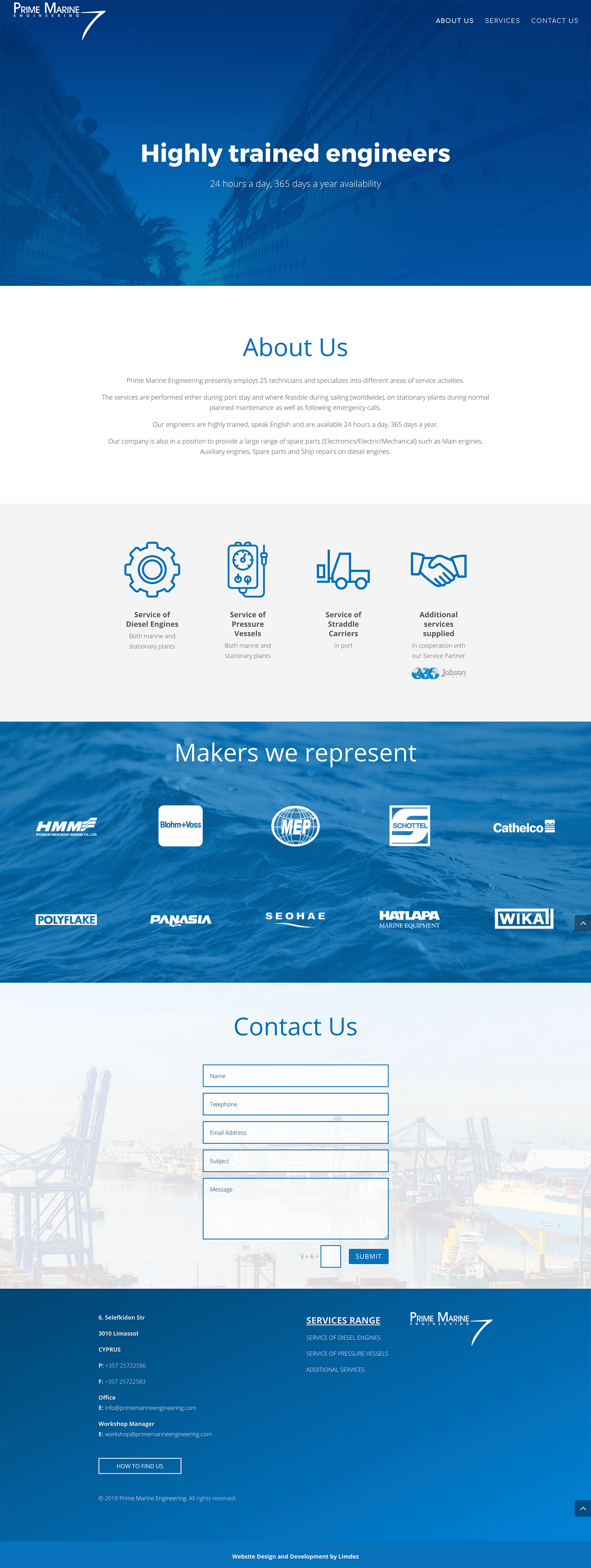 prime-marine-engineering-website-development